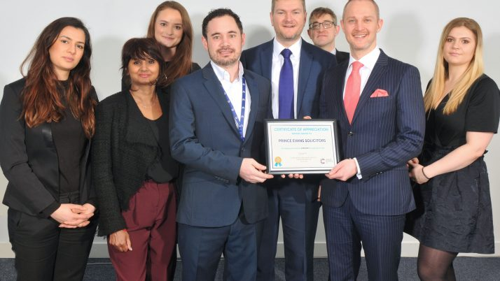 Prince Evans Solicitors LLP Rewarded For Helping To Secure Vital Funds For Cancer Research UK