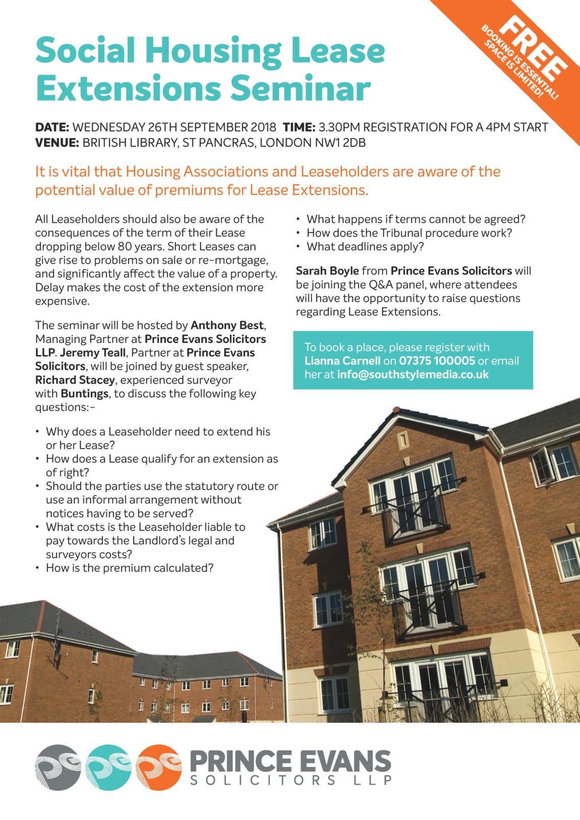 Social Housing Lease Extensions Seminar