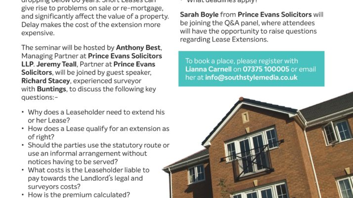 Social Housing Lease Extensions Seminar