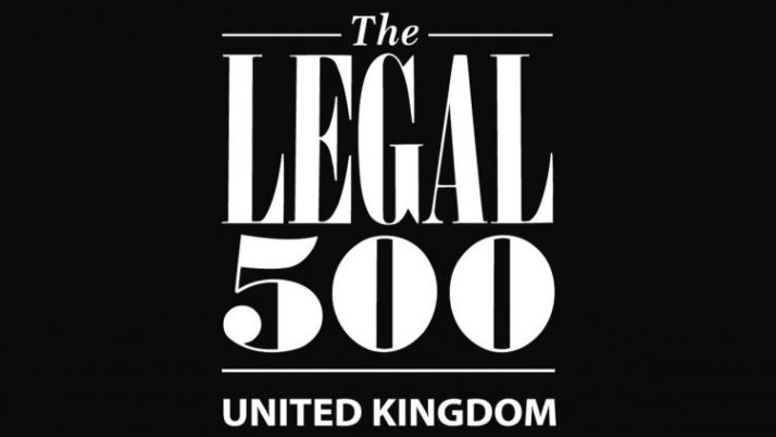 Prince Evans Solicitors latest Legal 500 Recommendation for the Personal Injury Team
