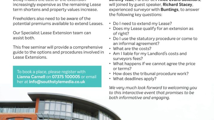 Free Seminar: Lease Extension Seminar