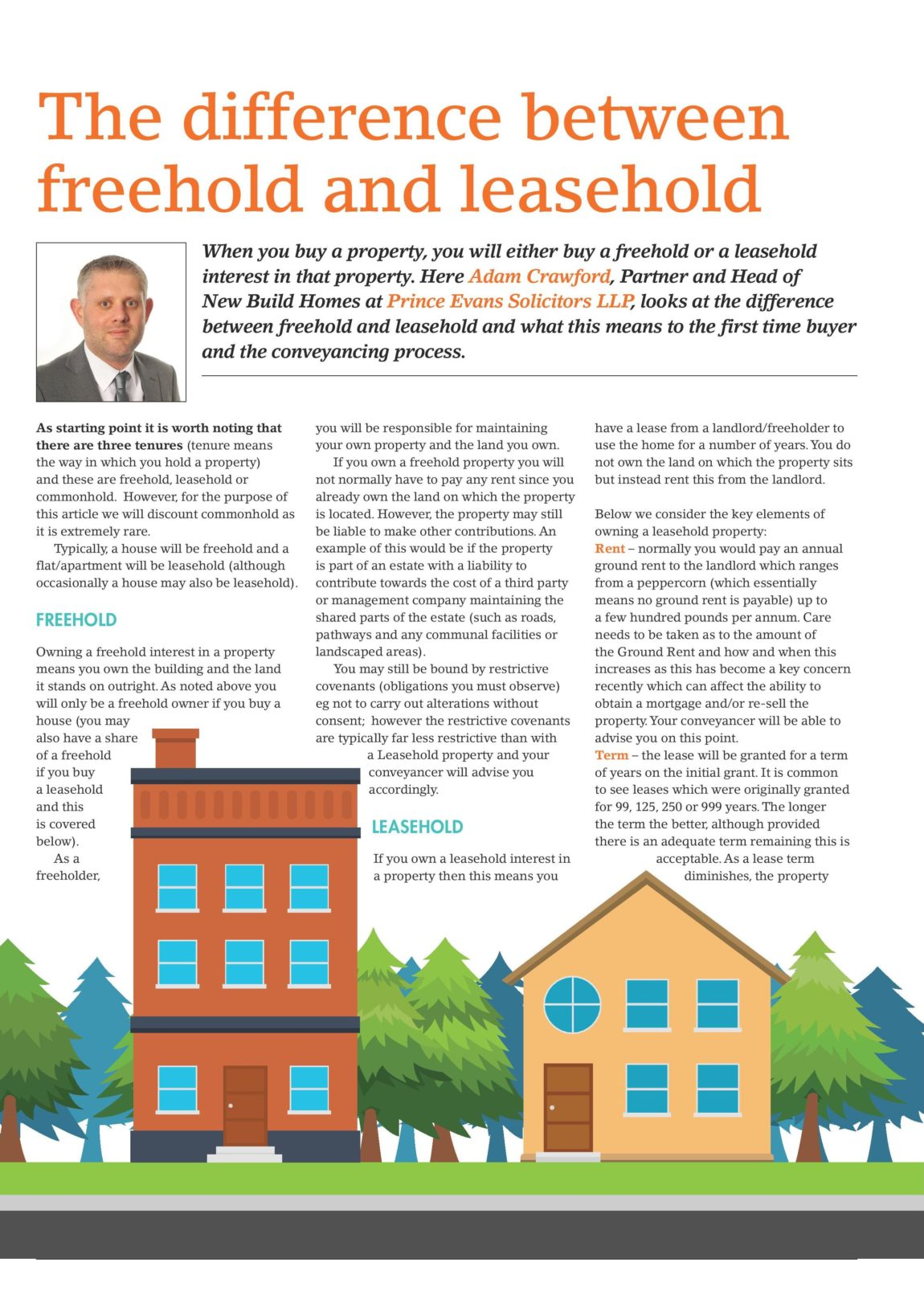 The difference between Freehold and Leasehold – Featured Article: First Time Buyers Magazine