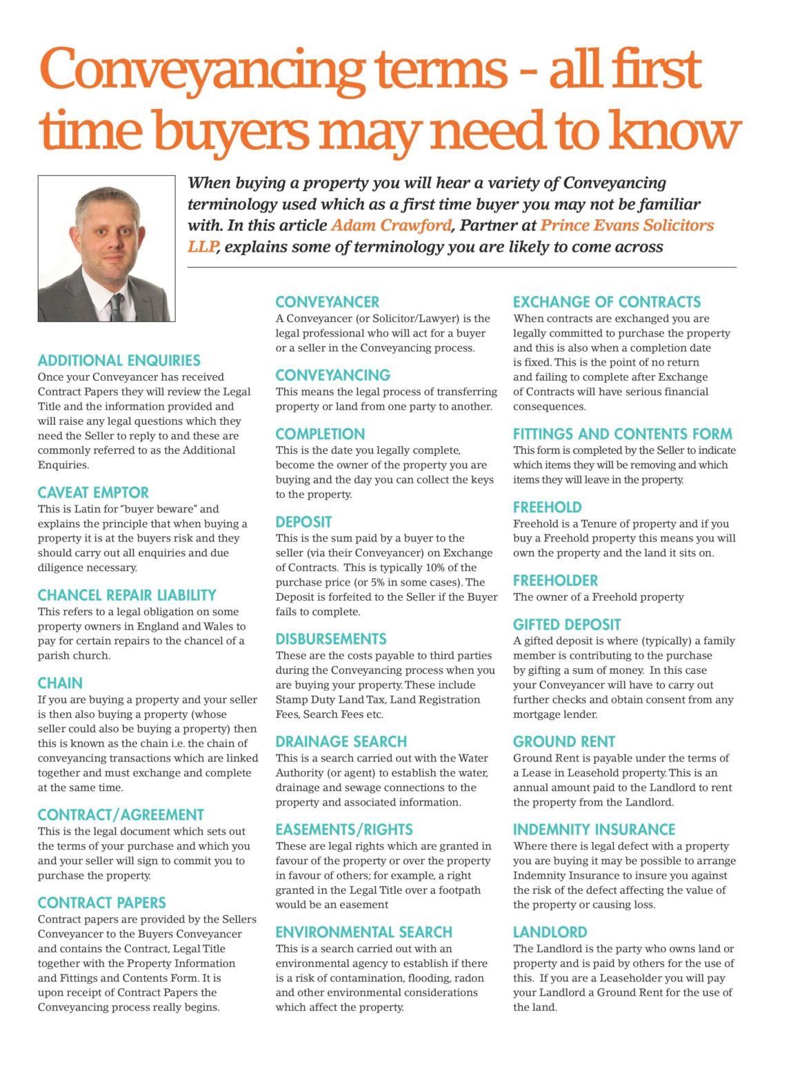 Conveyancing Terminology – Magazine Feature