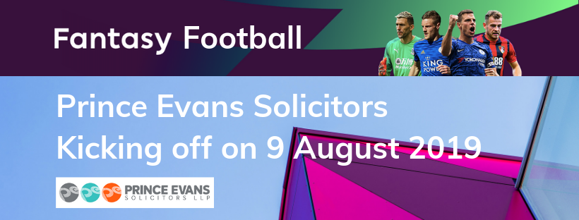 Prince Evans Solicitors – Fantasy Football 2019