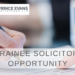 Opportunities at Prince Evans Solicitors: Trainee Solicitor