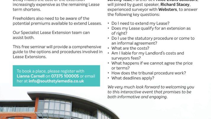 Free Lease Extensions Seminar – Ealing