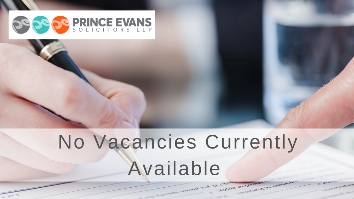 No Vacancies Currently Available