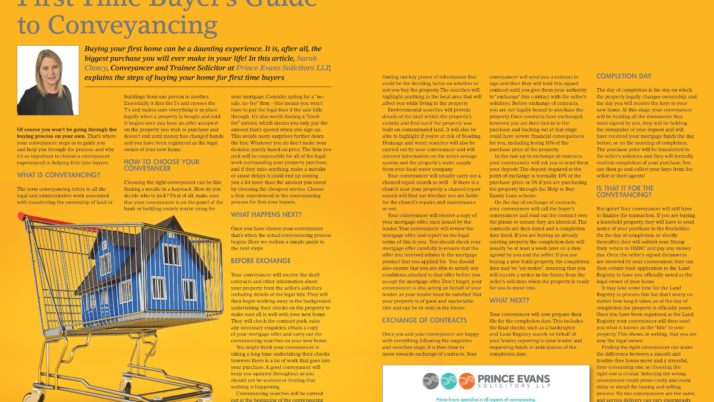First Time Buyer's Guide to Conveyancing