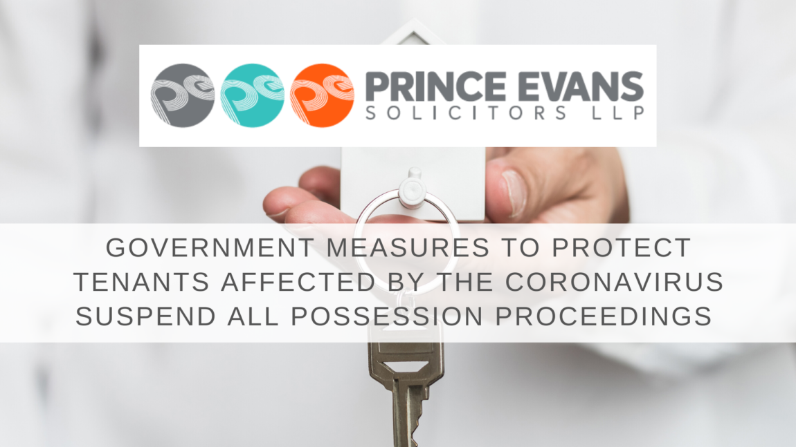 GOVERNMENT MEASURES TO PROTECT TENANTS AFFECTED BY CORONAVIRUS:  SUSPEND ALL POSSESSION PROCEEDINGS