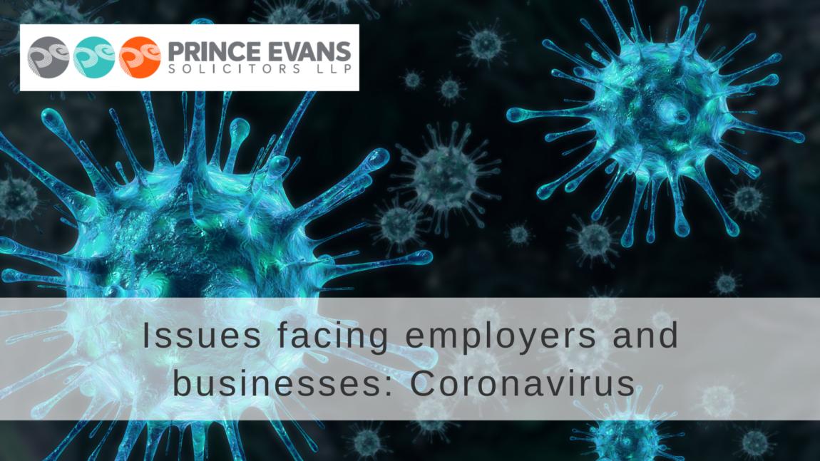 Issues facing employers and businesses: Coronavirus