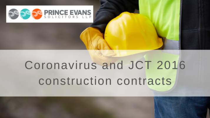 Coronavirus and JCT 2016 construction contracts