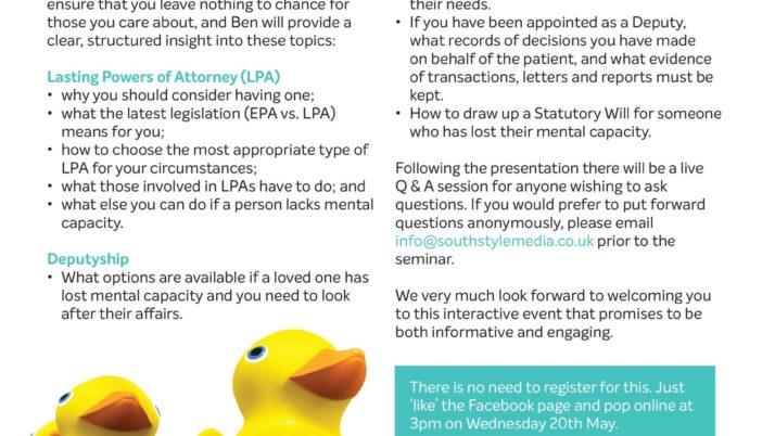 Lasting Powers of Attorney and Deputyship seminar