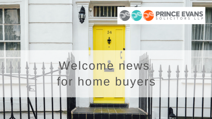 Welcome news for home buyers