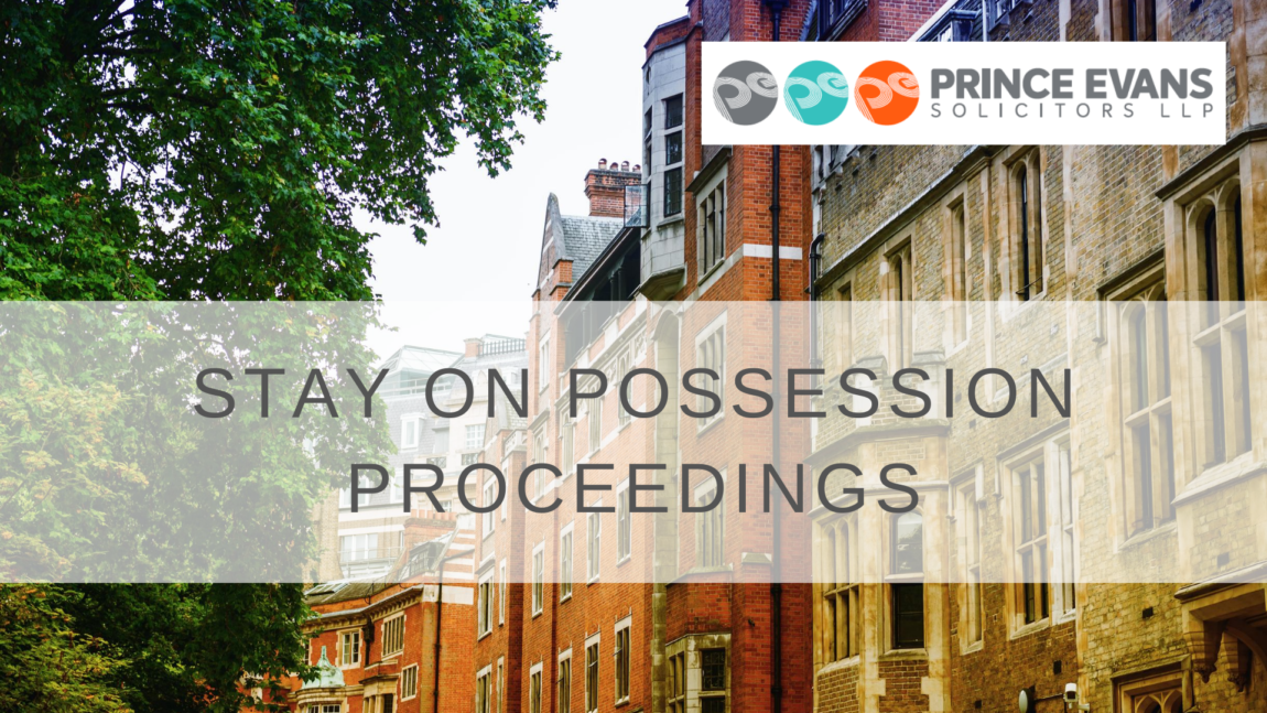 Stay on possession proceedings