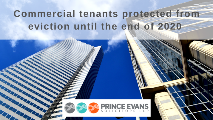 Commercial tenants protected from eviction until the end of 2020
