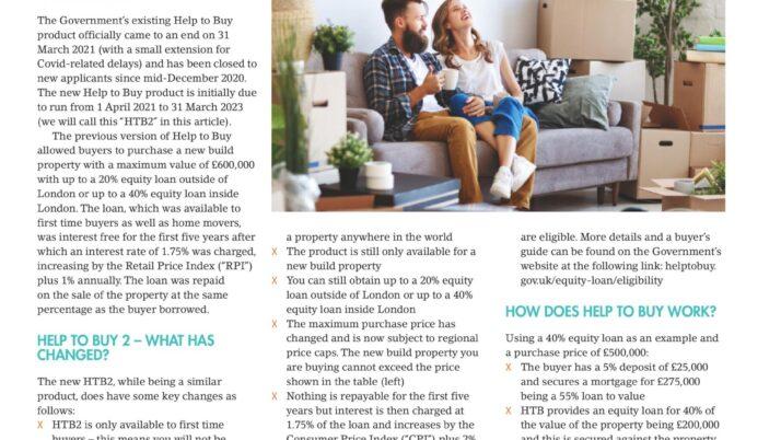 Help to Buy: Equity Loan 2021-2023