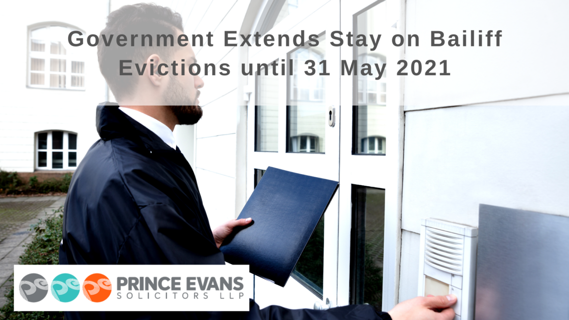 Government Extends Stay on Bailiff Evictions until 31 May 2021